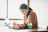 istock Woman working from home 1225794342