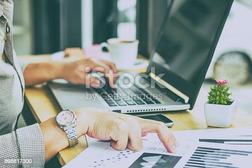 istock Woman Working in Coffee Shop 898817300