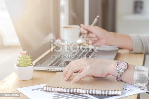 istock Woman Working in Coffee Shop 910531536