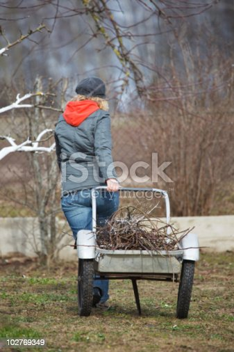 istock Woman working in garden 102769349