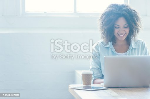 istock Woman working on a laptop. 519397558