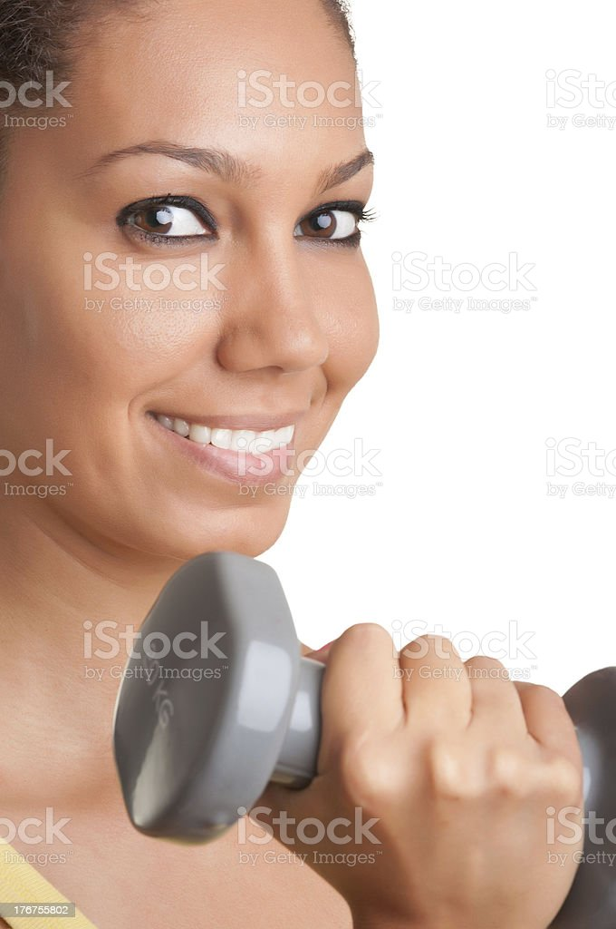 Woman Working Out royalty-free stock photo