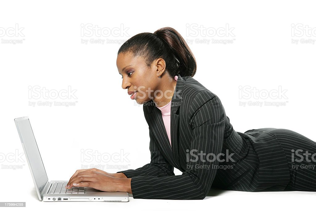 Woman working royalty-free stock photo