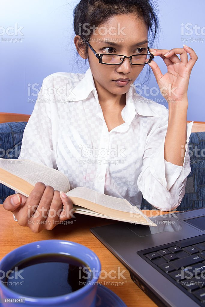 woman working with computer royalty-free stock photo