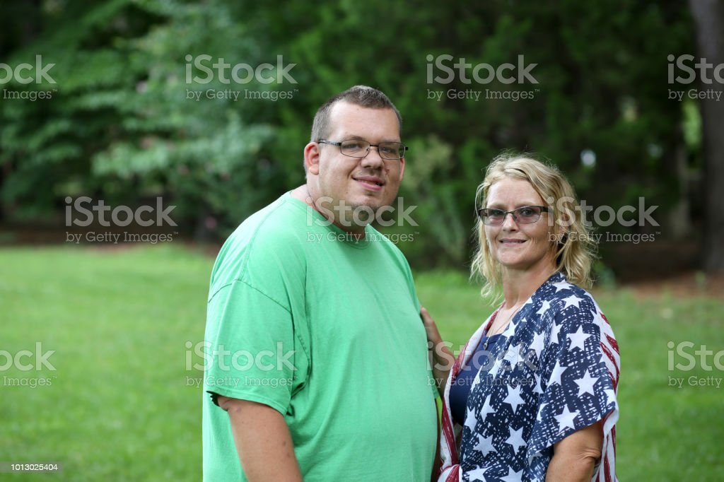 Woman works as a caregiver stock photo
