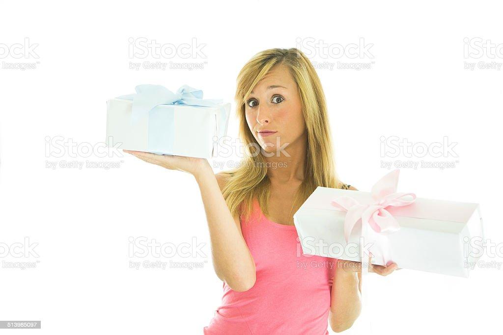 Woman worried stock photo