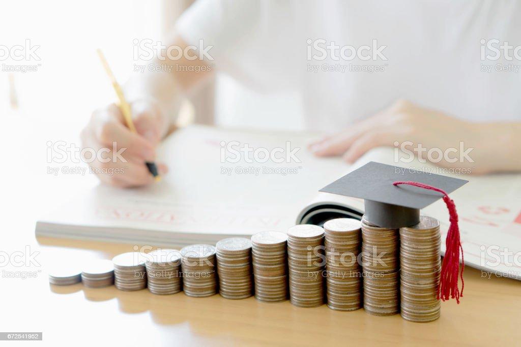 Woman writing on paper stock photo