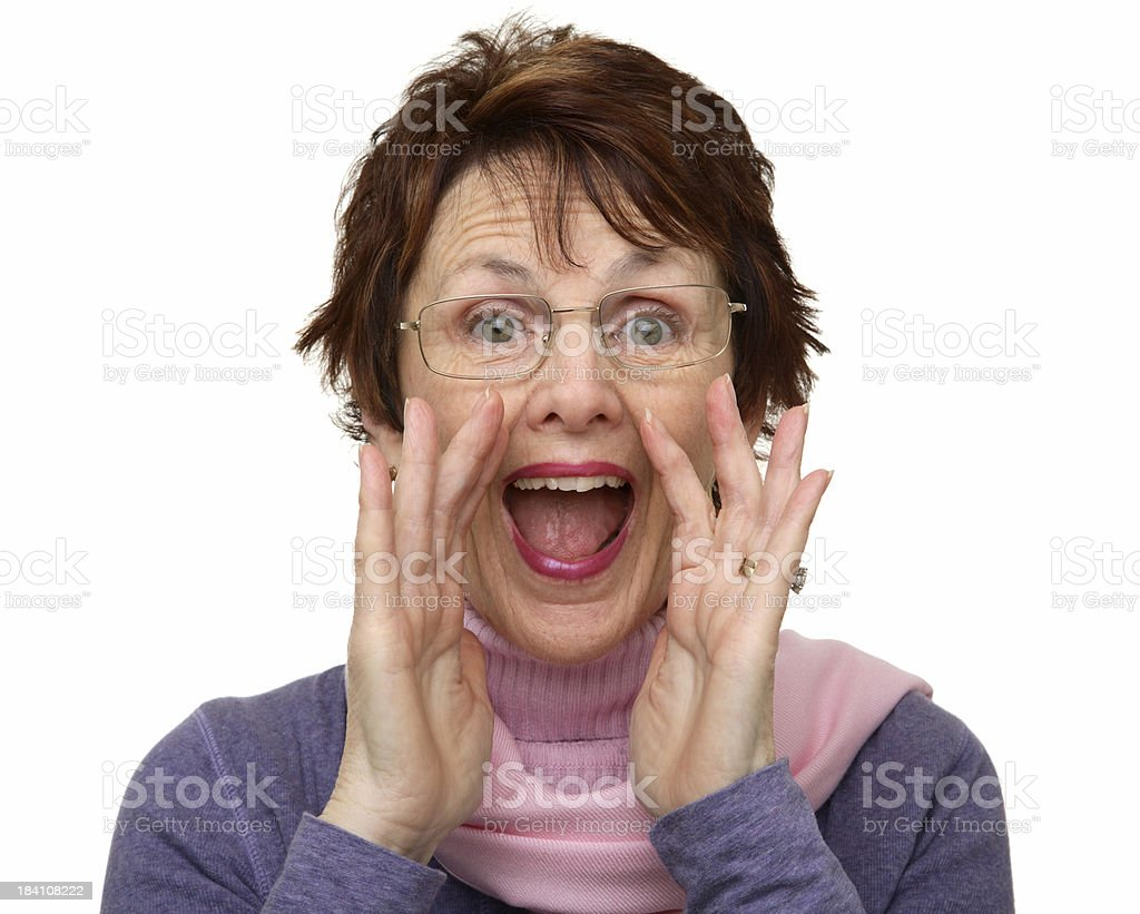 Woman Yelling stock photo