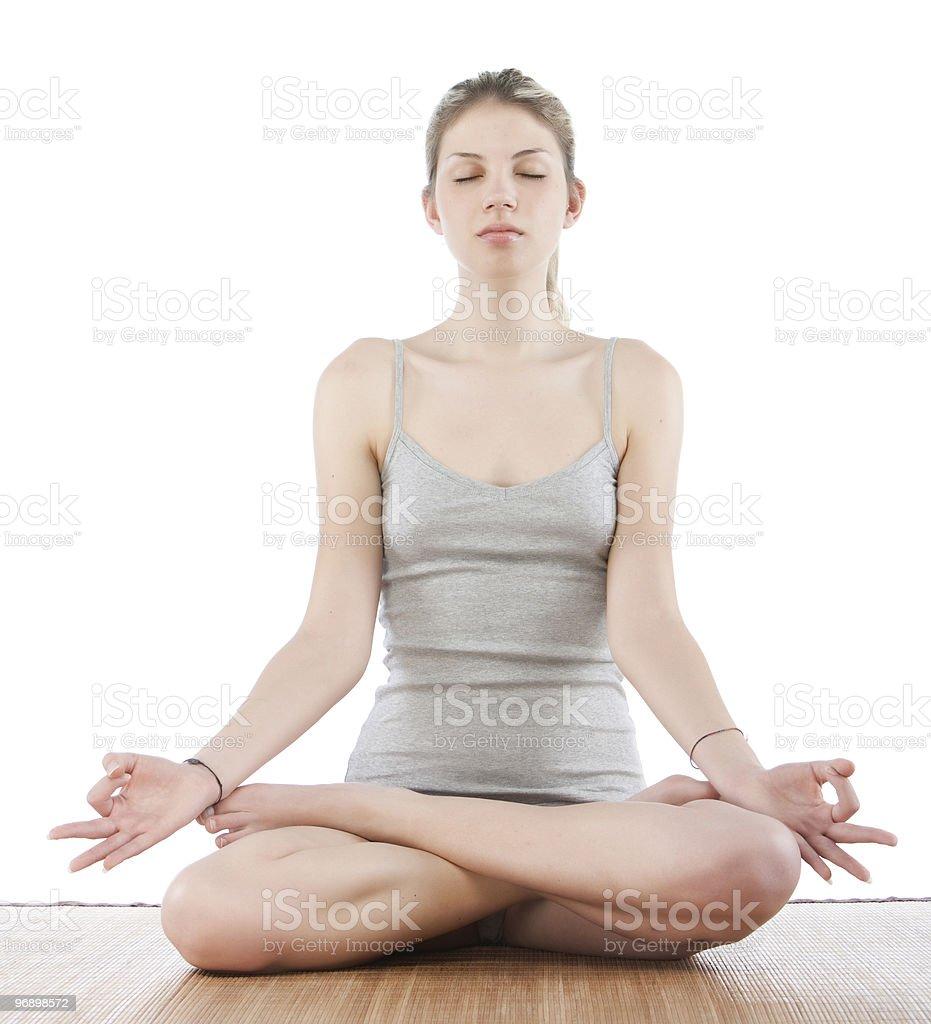 woman yoga royalty-free stock photo