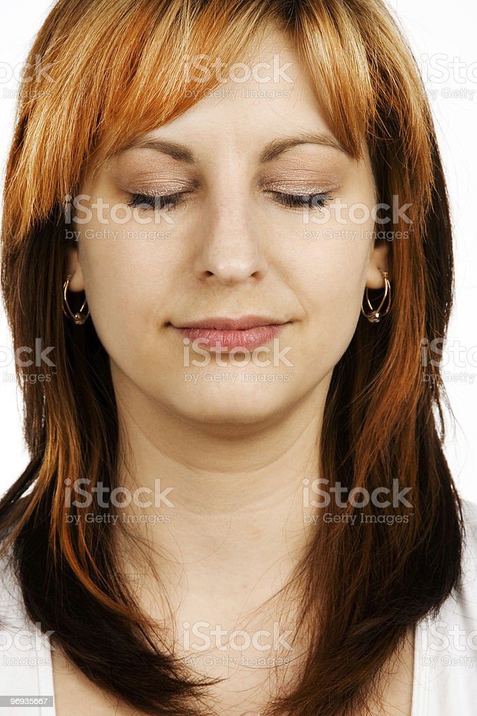 Woman´s smile royalty-free stock photo