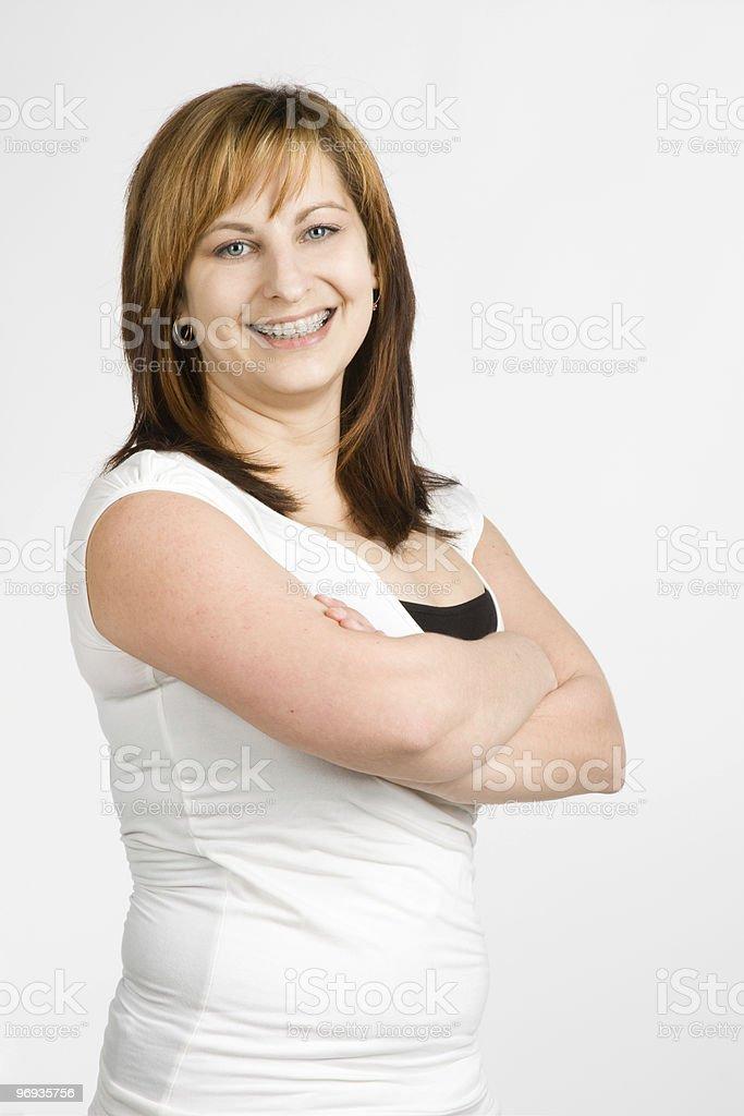 Woman´s smile royalty-free stock photo