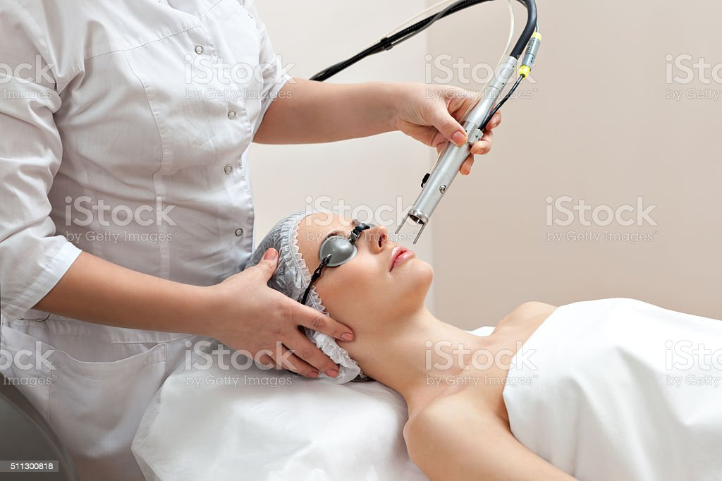 Womanat healthy beauty spa salon stock photo