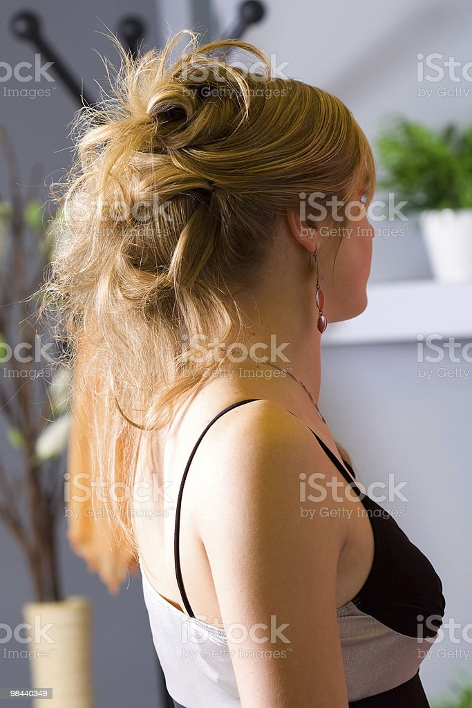 Woman-hairstyle royalty-free stock photo