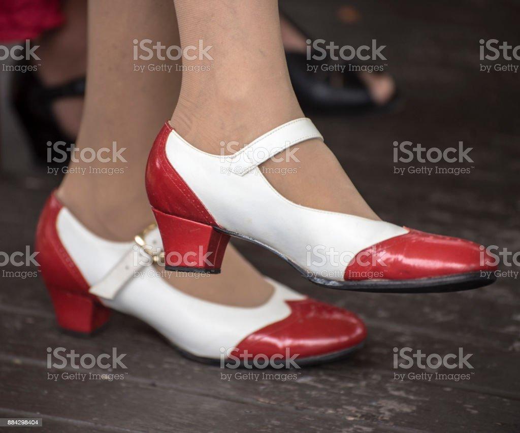 Et Des Femme De Années Photo Rouge Blanc La 1950 Libre Droit wnkO8P0X