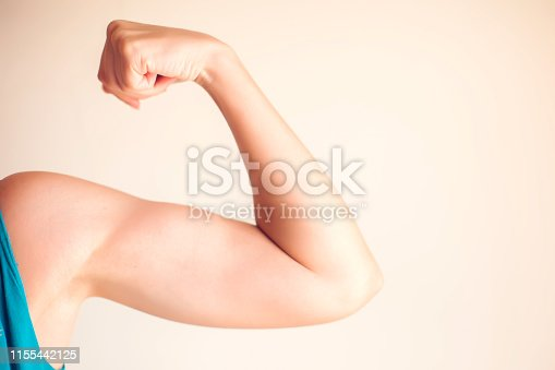istock Woman's arm isolated. People, healthcare and medicine concept 1155442125