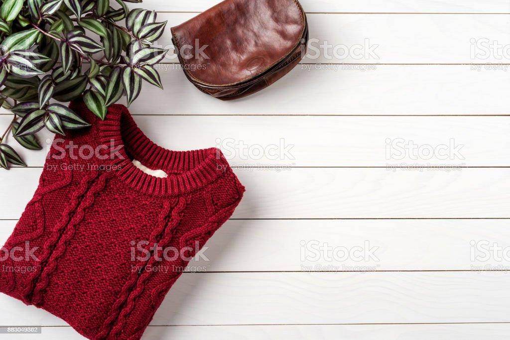 Woman's autumn or winter fashion stock photo
