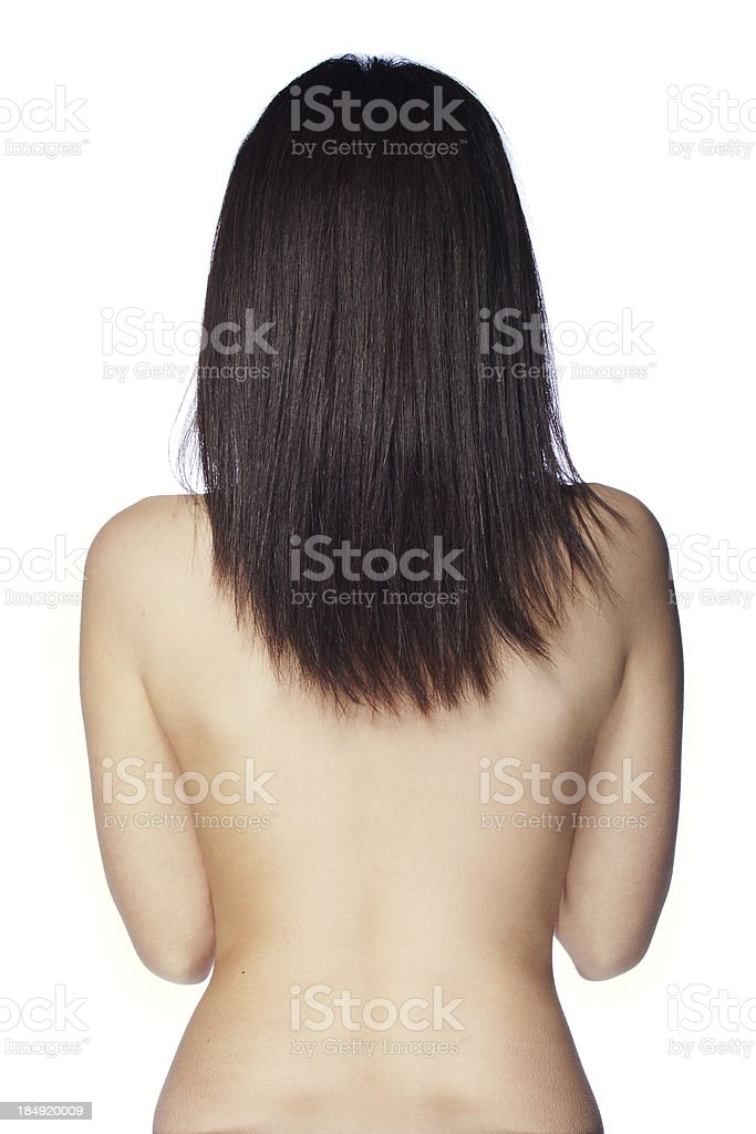 Woman's back royalty-free stock photo
