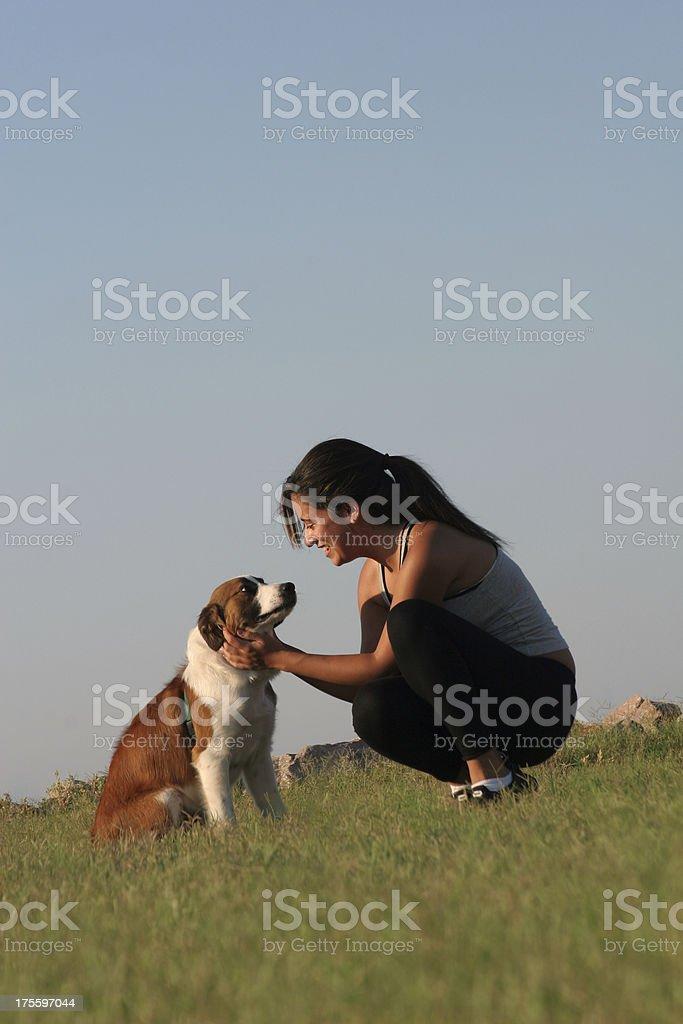 Woman's Best Friend royalty-free stock photo