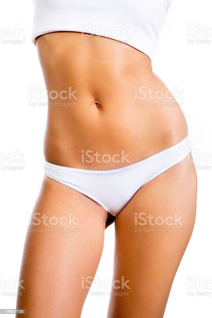 Woman's body. stock photo