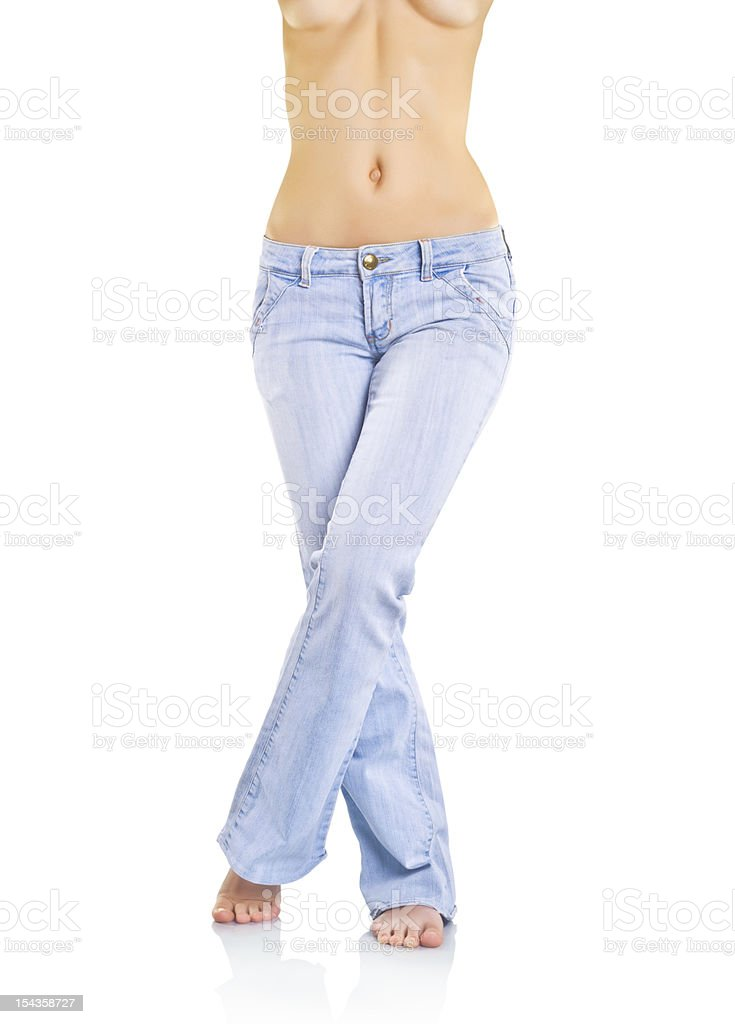 Woman's body royalty-free stock photo