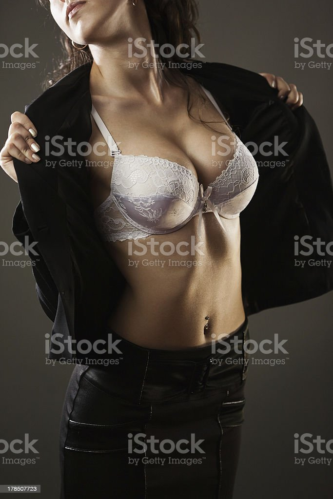 Woman's breast royalty-free stock photo