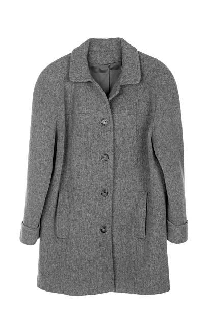 Donna cappotto isolato - foto stock