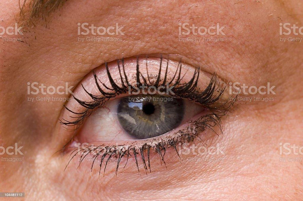 Womans eye in closeup stock photo