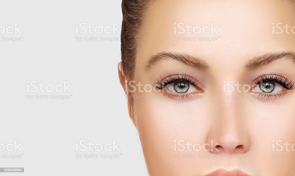 Woman's eye stock photo