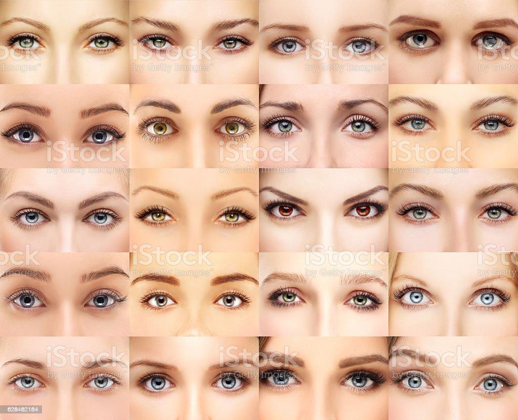 Woman's eyes stock photo