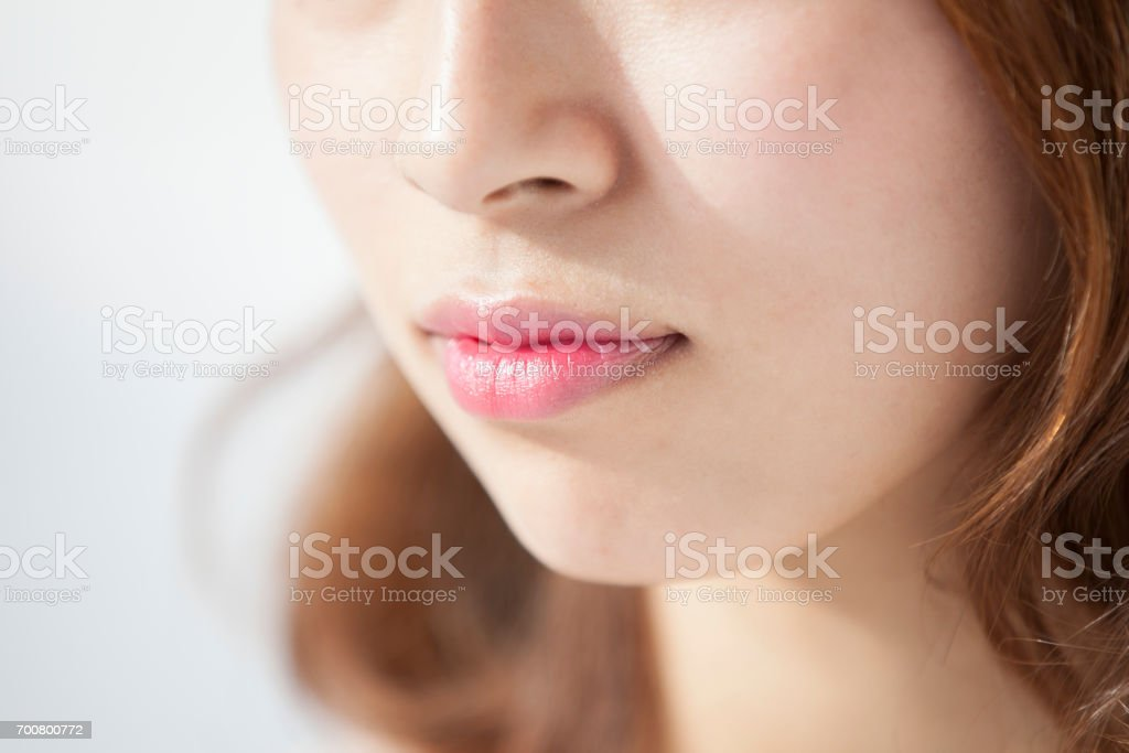 Woman's face close up - foto stock