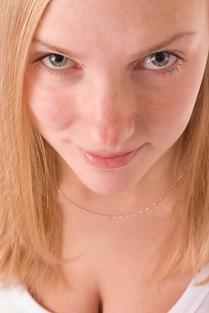 Mulher rosto - foto de acervo