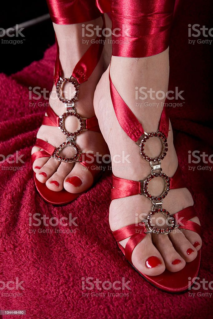 Woman's feet in sexy shoes - Stock image .