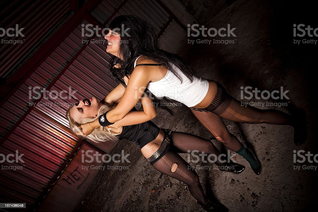 Woman's Fight Club royalty-free stock photo