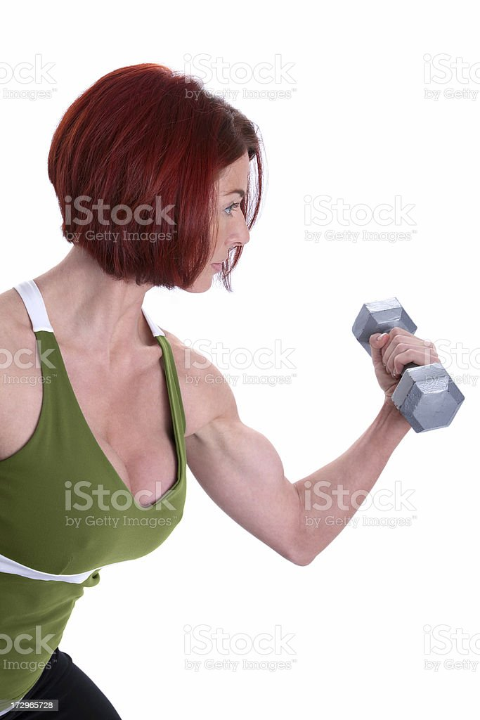 Woman's Fitness royalty-free stock photo