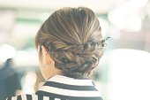 Woman's hair style wearing kimono