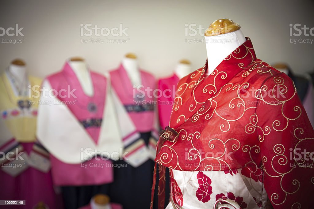 Woman's Hanbok - Traditional Korean Dress stock photo