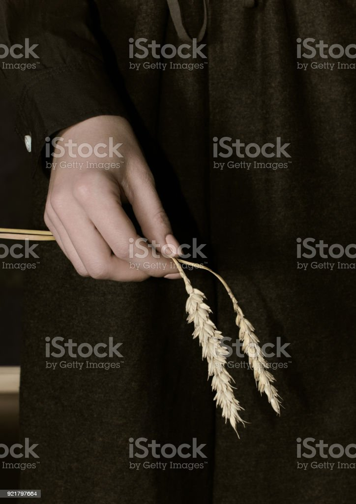 Womans Hand As Symbol Of Famine Period In Ukraine In 19321933 Years