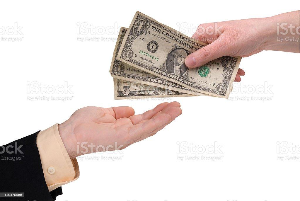 woman's hand holding money royalty-free stock photo