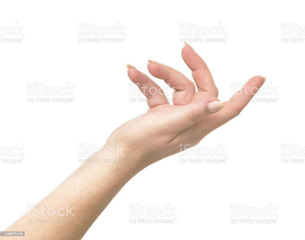 Womans' hand isolated on white background royalty-free stock photo