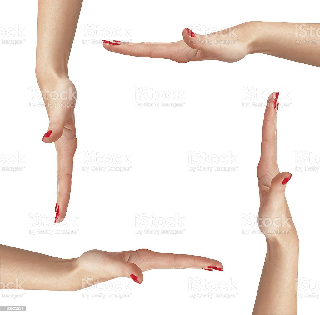 Woman's hand isolated on white royalty-free stock photo