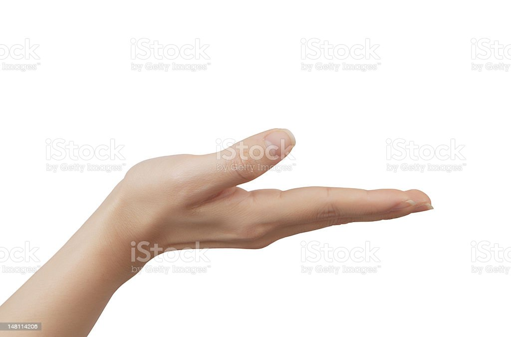 woman's hand, palm up. royalty-free stock photo
