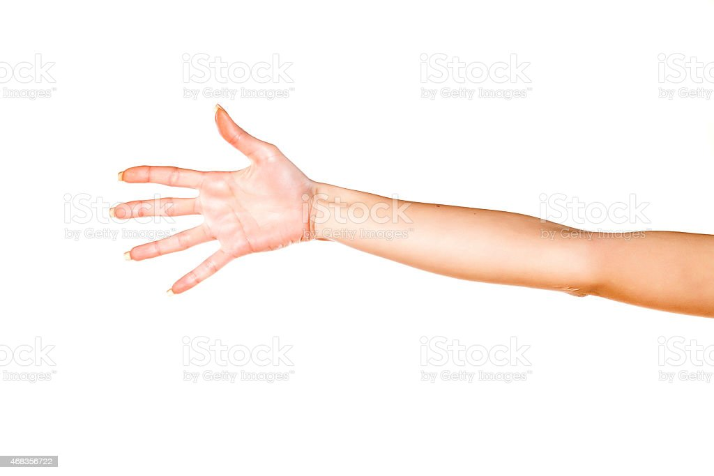 woman's hand with fingers spread royalty-free stock photo
