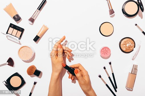 istock Woman's hands applying on skin 1167431957