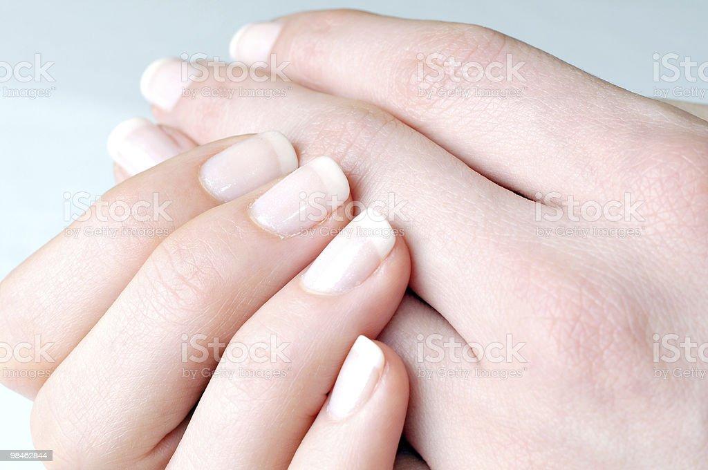 Mani di donna foto stock royalty-free