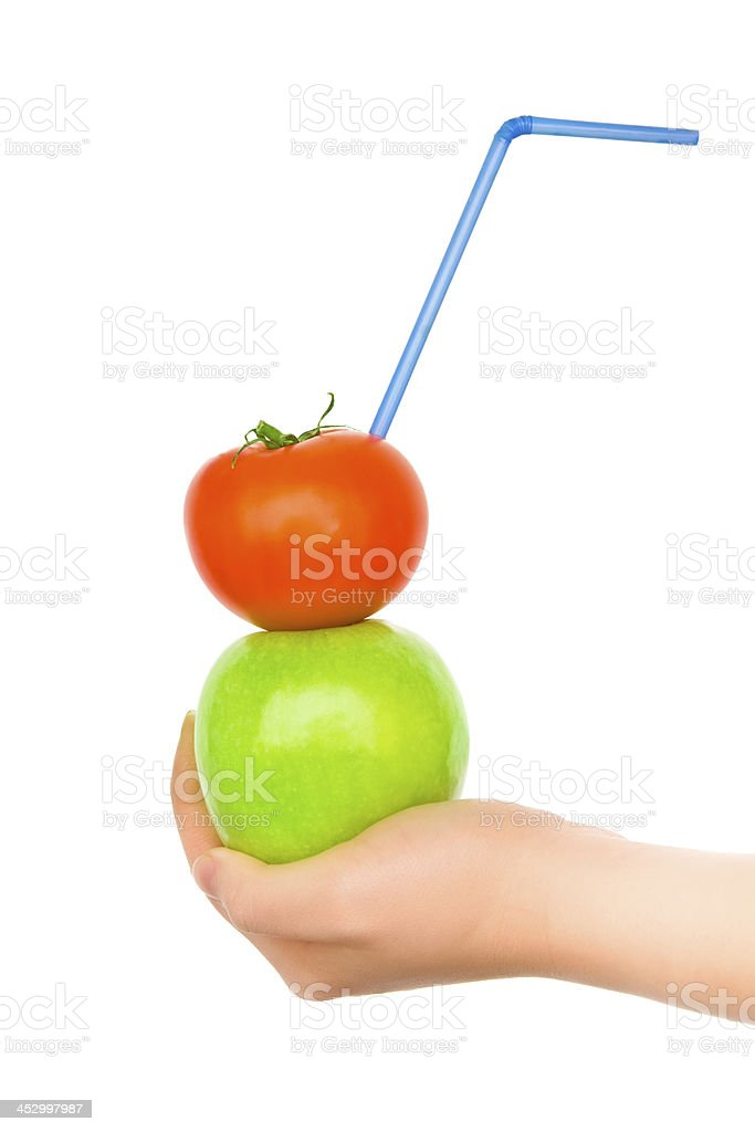 Woman's hands with creativity cocktail royalty-free stock photo