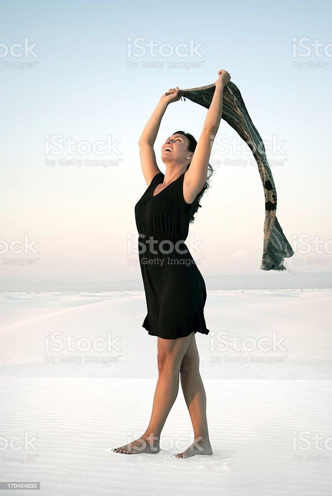 Woman's Joy royalty-free stock photo