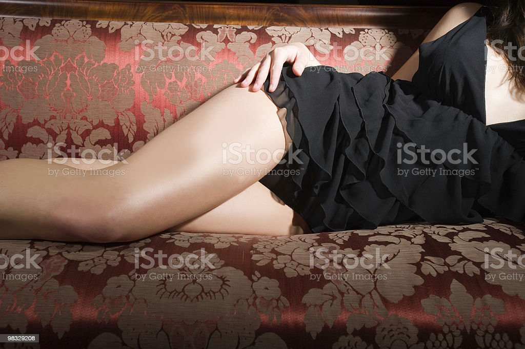 Woman's legs in lingerie royalty-free stock photo