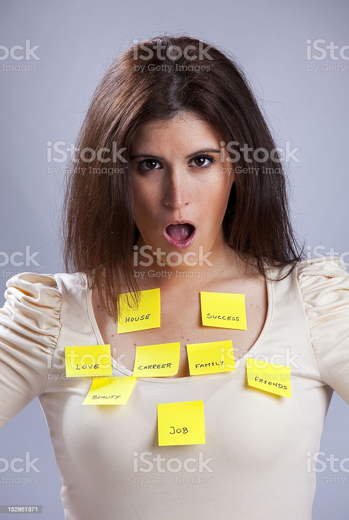 Woman's life problems royalty-free stock photo