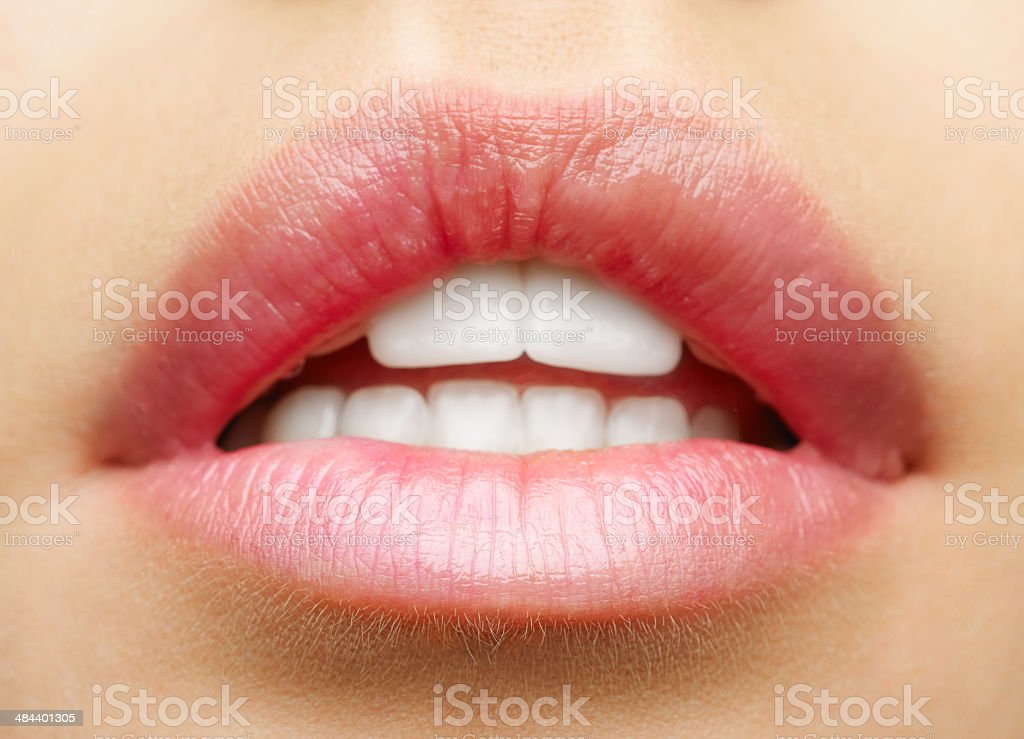 Womans lips stock photo