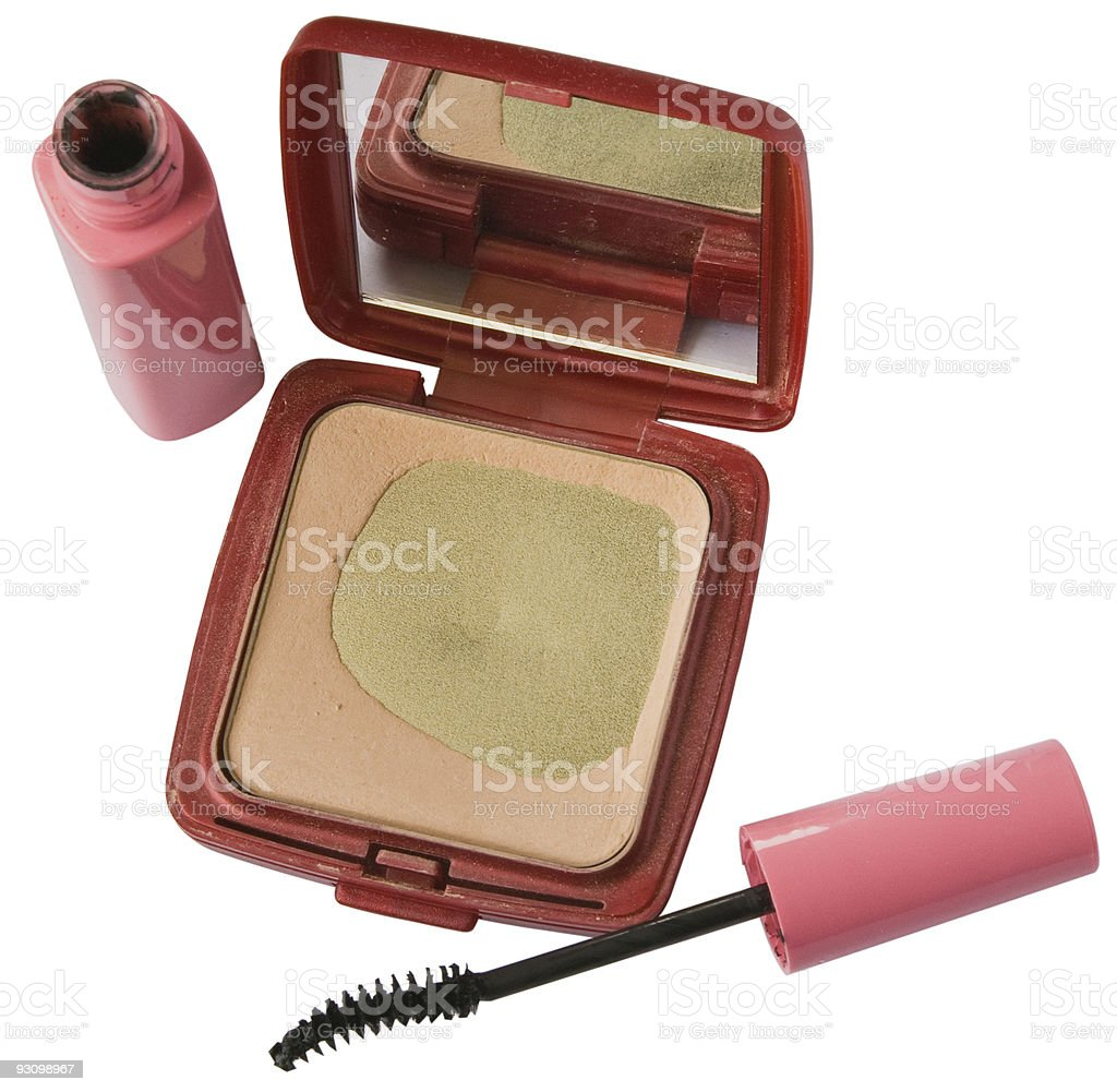 Womans makeup royalty-free stock photo